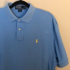 Polo by Ralph Lauren Lt Blue Yellow Pony Size M
